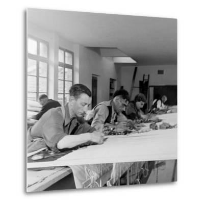 Artists Designing Aubusson Tapestry Weaving in France, 1946
