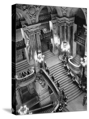 Guards Lining the Grand Staircase at the Victory Ball Held at the Paris Opera House