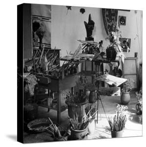 Painter Georges Braque's Studio by David Scherman