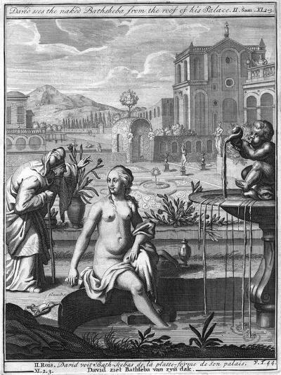 David Sees the Naked Bathsheba from the Roof of His Palace--Giclee Print
