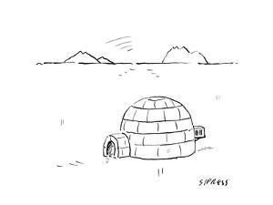 Igloo with air conditioning - Cartoon by David Sipress