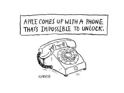 Impossible to lock phone - Cartoon by David Sipress