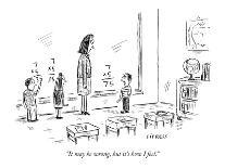 Man reads a church service sign that says, 'Does God Prefer Particular Spo? - New Yorker Cartoon-David Sipress-Premium Giclee Print