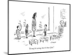 """""""It may be wrong, but it's how I feel."""" - New Yorker Cartoon by David Sipress"""