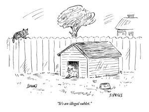 """It's an illegal sublet."" - New Yorker Cartoon by David Sipress"