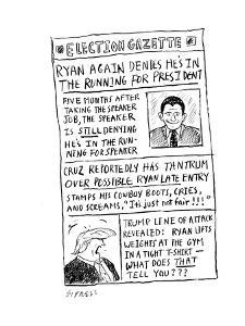 Ryan Denies He is Running for President - Cartoon by David Sipress
