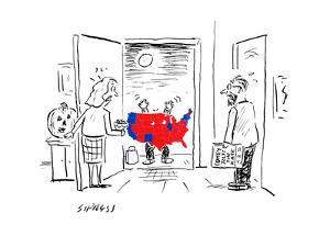 Scary Electoral Map Costume - Cartoon by David Sipress