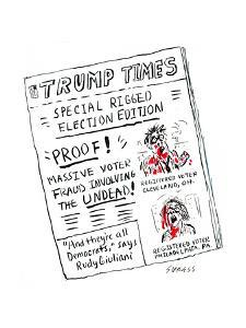 Trump Times - Cartoon by David Sipress
