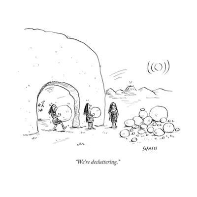"""We're decluttering."" - New Yorker Cartoon by David Sipress"