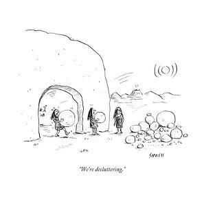 """We're decluttering."" - New Yorker Cartoon by David Sipress"