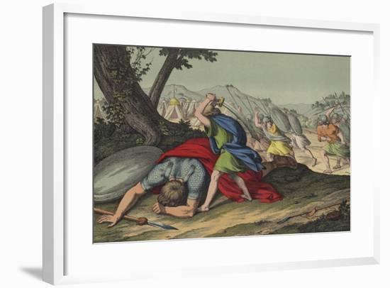 David Slaying Goliath--Framed Giclee Print