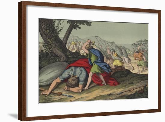 David Slaying Goliath--Framed Giclee Print