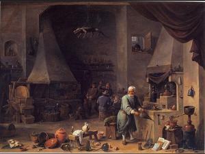Alchemist In Hi Workshop by David Teniers