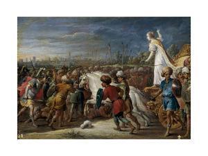 Armida en la batalla frente a los sarracenos., 1628-1630 by David Teniers