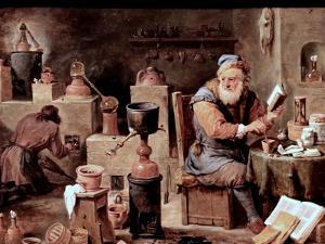The Alchemist by David Teniers