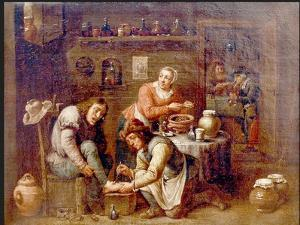 The Podiatrist Or Foot Surgeon by David Teniers