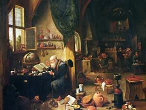 An Alchemist in His Workshop by David Teniers the Younger