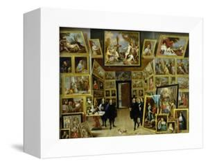 Archduke Leopold Wilhelm (1614-61) in His Picture Gallery, circa 1647 by David Teniers the Younger