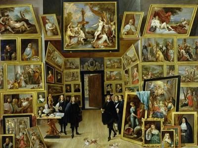 Archduke Leopold Wilhelm (1614-61) in His Picture Gallery, circa 1647