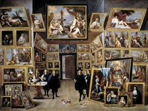 Archduke Leopold Wilhelm in His Gallery in Brussels, 1647-1651 by David Teniers the Younger