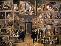 The Archduke Leopold Wilhelm (1614-62) in His Picture Gallery in Brussels, 1651-David Teniers the Younger-Giclee Print
