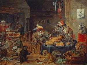 Banquet of Monkeys by David Teniers the Younger