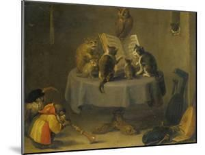 Cat and Monkey Concert by David Teniers the Younger