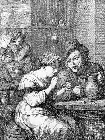 Interior of an Inn, Etched by Coryn Boel (Etching)
