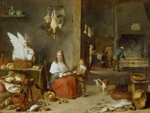 Kitchen Interior, 1644 by David Teniers the Younger