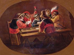 Monkeys Dressed as Soldiers Playing Cards and Carousing by David Teniers the Younger