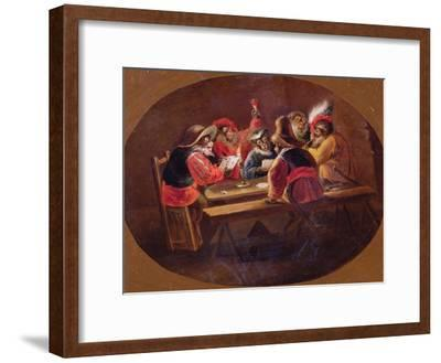 Monkeys Dressed as Soldiers Playing Cards and Carousing
