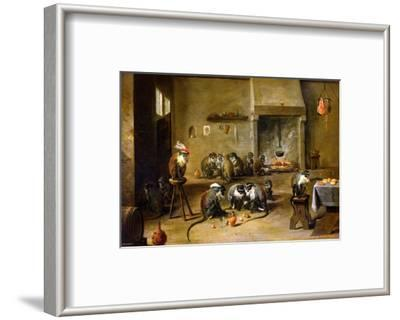 Monkeys in a Kitchen, circa 1645