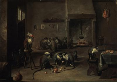Monkeys in the Kitchen, 1640S