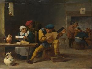 Peasants Making Music in an Inn, C. 1635 by David Teniers the Younger