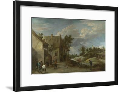 Peasants Playing Bowls Outside a Village Inn, C. 1660