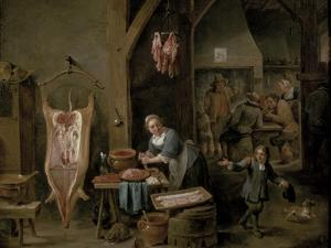 Sausage-Making, 1651 by David Teniers the Younger