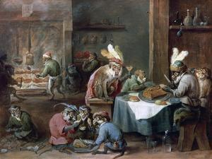 Smokers and Drinkers by David Teniers the Younger