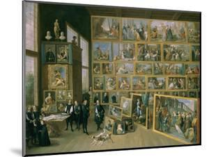 The Archduke Leopold Wilhelm (1614-62) in His Picture Gallery in Brussels, 1651 by David Teniers the Younger