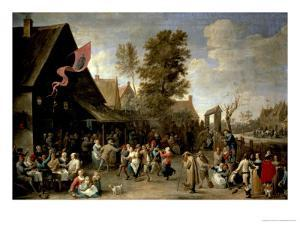 The Consecration of a Village Church, circa 1650 by David Teniers the Younger