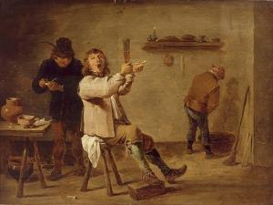 The Smokers by David Teniers the Younger