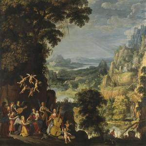 Landscape with the flight into Egypt, c.1610-40 by David The Elder Teniers