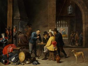 Guardroom with the Deliverance of Saint Peter, c.1645-47 by David the Younger Teniers