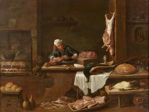 Kitchen of a Dutch Mansion by David the Younger Teniers