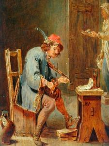 Man Playing a Fiddle, 1800-50 by David the Younger Teniers