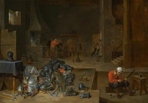The Armorer's Shop, c.1640-1645 by David the Younger Teniers