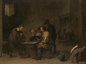 The Gamblers, C.1640 by David the Younger Teniers