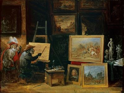 The Monkey Painter, 1805