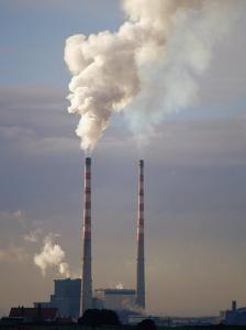 Smokestacks of Dublin Power Station, Dublin, Ireland by David Tipling