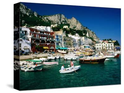 Boats in Marina Grande Harbour, Capri, Campania, Italy