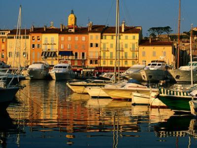Harbour Boats and Waterfront Houses, St. Tropez, Provence-Alpes-Cote d'Azur, France